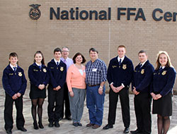 Alan and Sherry Stowers with FFA group